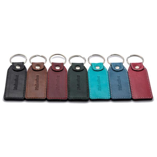 Kožni privezak za ključeve 041 - sa nitnom pravougaoni