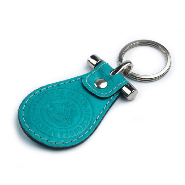 Privezak za ključeve model 039 – okrugli sa prečkom